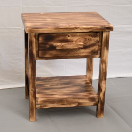 Farmhouse Torched Nightstand