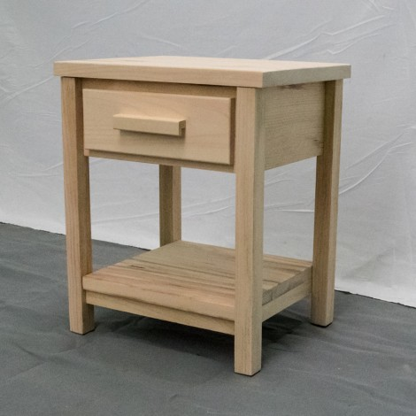 Unfinished nightstand